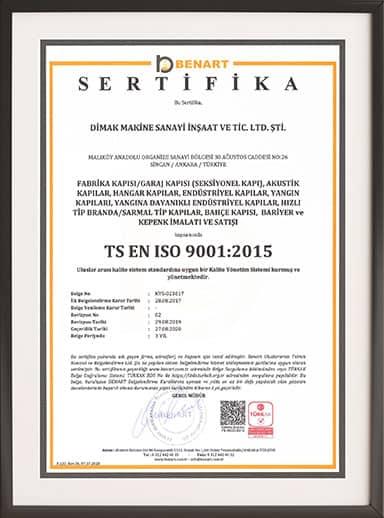 Dimak Fire Doors ISO 9001