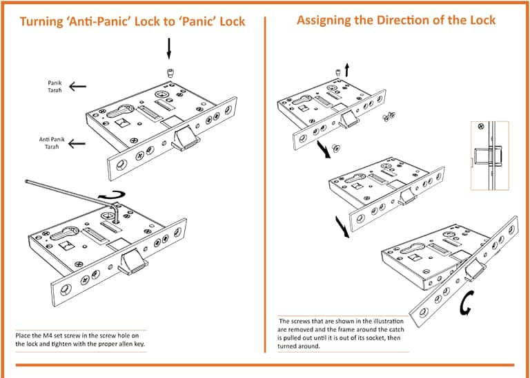Assigning The Direction of Fire Door Lock